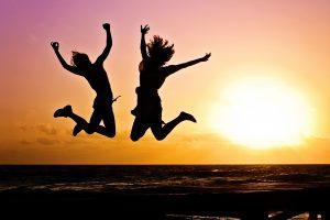 active, jump, happy